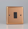Varilight Polished Copper Switches & Sockets - Standard Plate